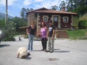 Juan, MªJesús y yo en Sendero del Agua
